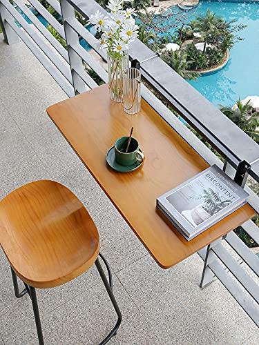 DYQFS Balcón Plegable Mesa Auxiliar Plegable para Balcón, Estante Ajustable para Jardín...