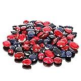 Piedras preciosas de zafiro azul natural rubí Lote 100 CT - 7 piezas de zafiro facetado, ...
