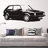 Crjzty Dekoration Steine Abnehmbare Vintage XL Große Auto Vw Golf GTI Mk Klassische Wandkunst Aufkleber Aufkleber Dekoration Kunstwand Papier Auto Aufkleber 42X110 cm