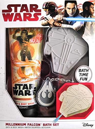 Star Wars Millennium Falcon Badeset | Bad & Duschgel | Wasserspritzer | Schlüsselanhänger