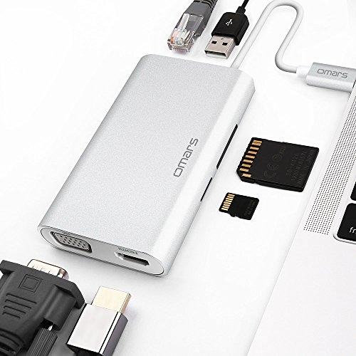 Omars USB C Hub, Hub USB-C vers USB 3.0, HDMI 4K,...