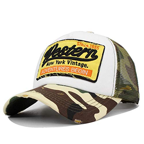 Cap Brand Mesh Camuflaje Gorra de béisbol Hombres Mujeres Sombreros de Hueso para Hombres Hip Hop Gorras Casquette Dad Snapback Sombrero de béisbol Gorras Ajustable Western