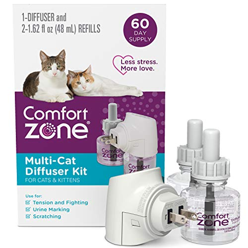 Comfort Zone 1 Diffuser Plus 2 Refills Multi-Cat Calming Kit (60-Day Supply) for a Peaceful Home |...