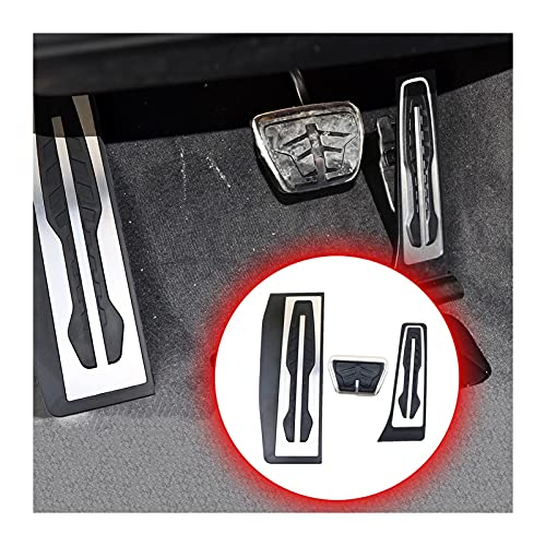 EMEI Pedale Adatto per BMW 1 2 3 4 Serie F20 F21 F22 F30 F30 F31 F32 F36 Accessori Accessori Accendi Gas Brake Gas Combustibile Piedi Pad Rest Pad Trim (Color Name : 3pcs for AT)