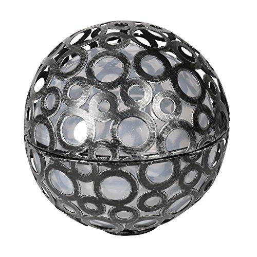 Solarline 403776 Sphere Metal Solare, Grigio, 15 x 15 x 15 cm