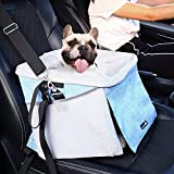 Pecute Haustier Fahrradtasche für hunde Katzen Fahrradkord Hundetasche Hundekorb Rucksack vorne Atmungsaktiv Netzfenster Faltbar für Kleine Mittlere Hunde und Katzen(6kg)