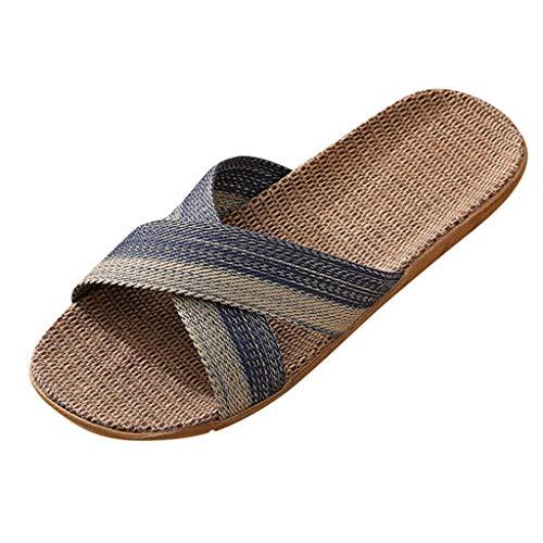 URIBAKY - Slip da uomo, alla moda, casual, scarpe da spiaggia all'interno della casa, (Marina), 40 EU