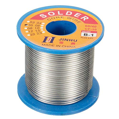 Liyafy 2.0mm 250g Rosin Core Flux 60/40 Solder Soldering Iron Wire Reel for Electrical repair And DIY