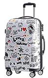 BEIBYE Reisekoffer Hartschalen Hardcase Trolley Zahlenschloss Polycarbonat Set-XL-L-M- Beutycase (Love, L)