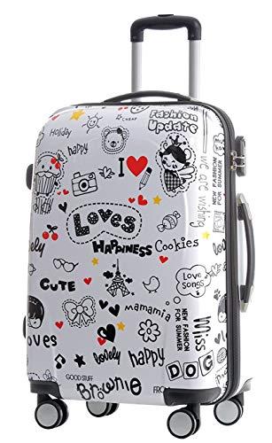BEIBYE Reisekoffer Hartschalen Hardcase Trolley Zahlenschloss Polycarbonat Set-XL-L-M- Beutycase (Love, XL)