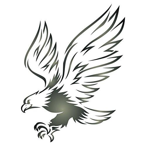 Adler-Schablone – wiederverwendbare Wandschablone für Vögel und Tiere Large