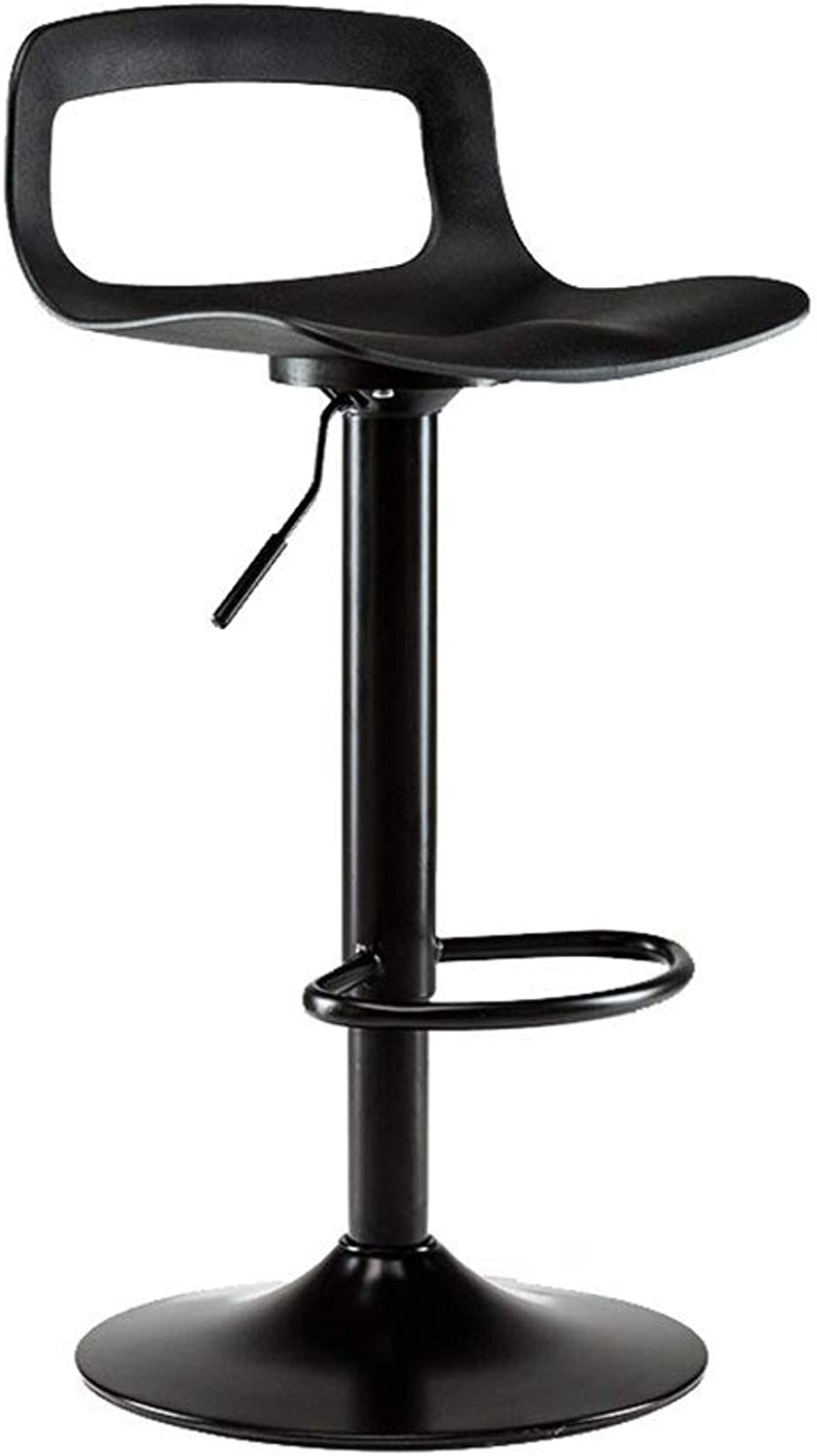 Bar Stool Chair 360 Degree Adjustable redating Plated Backrest Office Bar Stool Bar Chair Height FENPING (color   A)