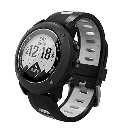 STG GPS Smart Watch, Fitness Tracker with 24 Hours Real-time Heart Rate Monitor, Activity Tracker and 200-meter Waterproof Standard for Android and iPhone (Grey)