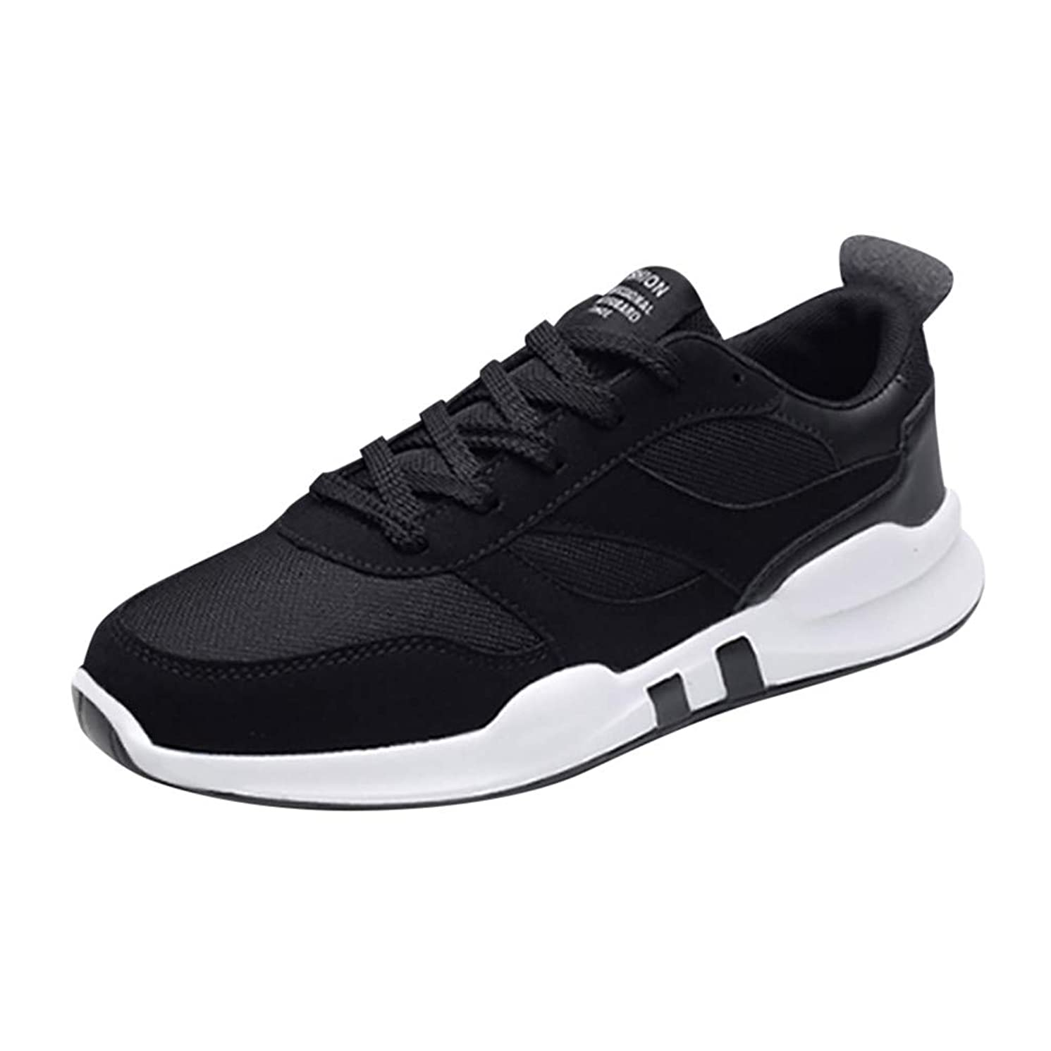 Wenysy Men's Fashion Comfortable Casual Mesh Breathable Lightweight Lace-Up Sneakers Running Shoes Single Shoes