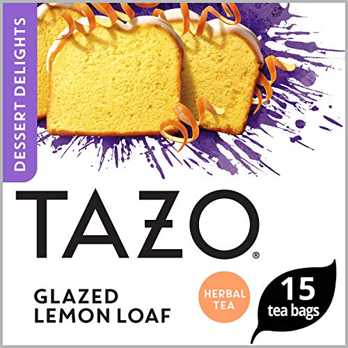 Tazo Filterbag Tea, Glazed Lemon Loaf, 15 ct, Pack of 6 (Packaging may vary)