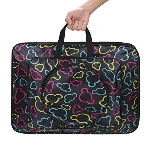 Bolsa de dibujo para niños, tamaño A3 impermeable para tabla de dibujo, 8 K, gran capacidad, bolsa de pintura portátil de Oxford, mochila con diseño bonito, regalo de cumpleaños, color Motif ours