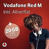 Vodafone RED M - 20 GB Highspeed Internet - Allnet Flat: Telefon, SMS und EU-Roaming - Exklusiv Tarif - Kein Anschlusspreis