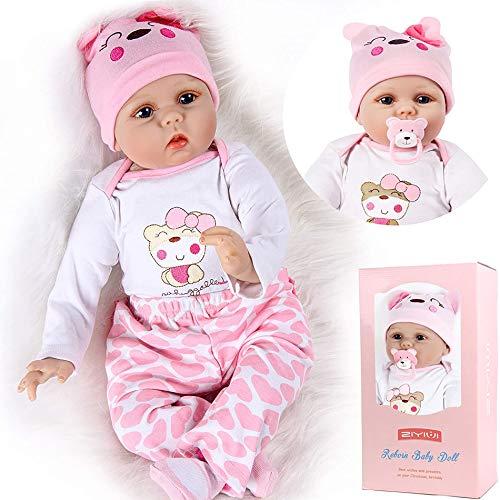 22 Pollici 55 cm Reborn Bambola Femmina in Silicone Morbido Vinile Giocattolo Ragazze Fatto a Mano Bambola Reborn Toddler Regali di Natale Toys Reborn Baby Dolls