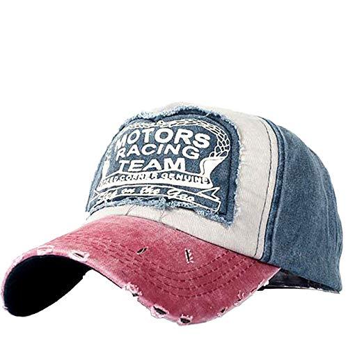 WHSHINE Unisex Mesh Baseballcap, Vintage Brief Stickerei Used Look Retro Sommer Kappe Mütze Cap Schirmmütze Baseballmütze Sonnenhut