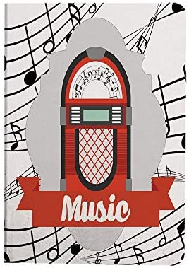 Jukebox Case for iPad Air 4 10 9 Inch 2020 Old Vintage Music Radio Box Cartoon Image with Notes product image