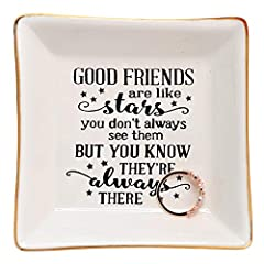Crafted from great quality glazed ceramic,Well packed with styrofoam and gift box.(small trinkets are not included) Sentiment written in Plate: A gift for long distance friendship to remind your friends you always keep her in mind A great birthday go...