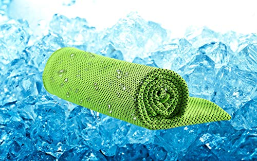 Coolthiing Cooling Towel, 40x12Yoga Towel for Instant Cooling Relief,Chilling Neck Wrap for Sports Workout Yoga Hiking