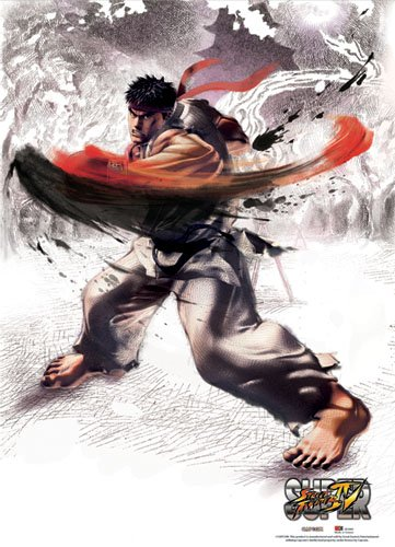 Unbekannt Great Eastern Entertainment super Street Fighter IV Ryu Wall Scroll, 33 von Blumenkasten