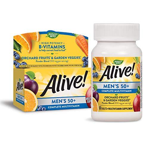 Nature's Way Alive! Men's 50+ Complete Multivitamin, High Potency B-Vitamins, 50 Tablets