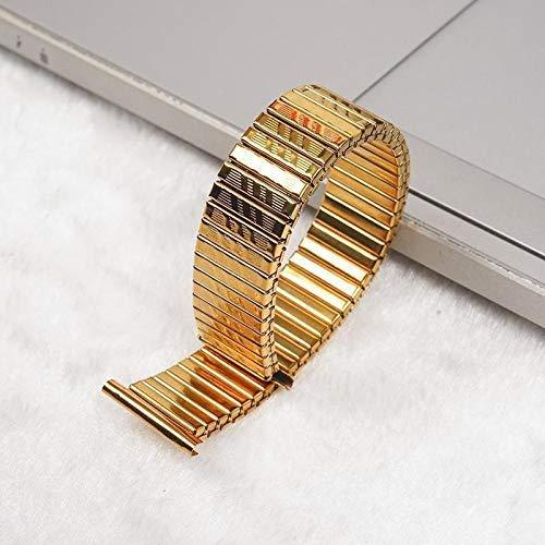 Correas de Reloj Piezas de Acero Inoxidable Correa de Reloj Correa de Reloj de Metal Plateado Pulseras de Reloj de expansión elástica Accesorios de Reloj 10 12 14 16 18 20 MM # 0000 para Hombres y m