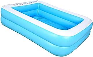 Piscina rectangular para niños, piscina de PVC engrosada inflable para niños, piscina de interacción de verano, fiesta de agua, piscina para jardín, patio trasero al aire libre