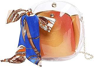 TOOGOO Transparent Girl Cute Chain Bag Jelly Handbag Female Bag Small Shoulder Bag Gray