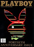 Playboy Magazine Fortieth Anniversary Issue January 1994 Collector's Edition