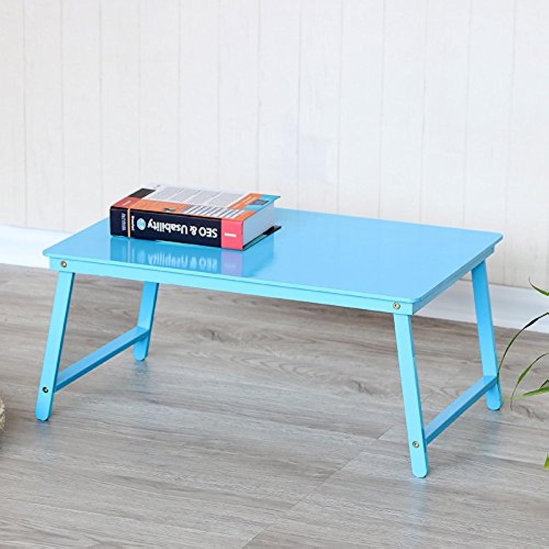 80% de descuento Folding table Doméstico De Ocio Estudiante Estudiante Estudiante Dormitorio Plegable Mesas Portátil Portátil Cama con Una Mesa Pequea Mesa De Escritorio Perezoso (Color   Azul)  nueva gama alta exclusiva