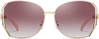 Durable Classic Polarized Metal Material UV400 Sunglasses Trend Brown/Pink/Claret Lens Female Models Wild Fashion Sunglasses (Color : Claret)