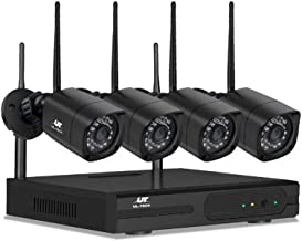 UL-TECH 4X Home Security Camera Wireless CCTV System with 4CH NVR