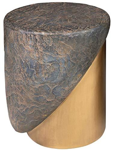 Casa Padrino Taburete de diseño Antiguo Cobre/latón Ø 41 x A. 48,5 cm - Taburete Redondo de hormigón Reforzado con Fibra de Vidrio - Muebles de Lujo