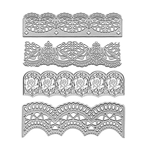 llwei258 DIY Cutting Dies Bruiloft Uitnodiging kant Border Embossing sjabloon sjabloon voor Scrapbooking Embossing Paper Card Decor