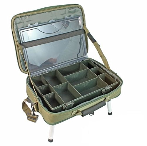 NGT Unisex's Deluxe Anglers Box Case System, Green, One Size