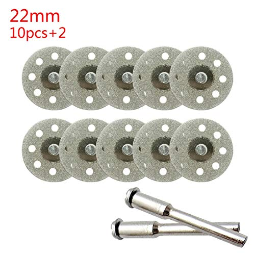 F-MINGNIAN-TOOL, 10 stks 20-25mm Diamant Snijschijf Voor Metalen Slijpschijf Mini Cirkelzaag Voor Boor Rotary Tool