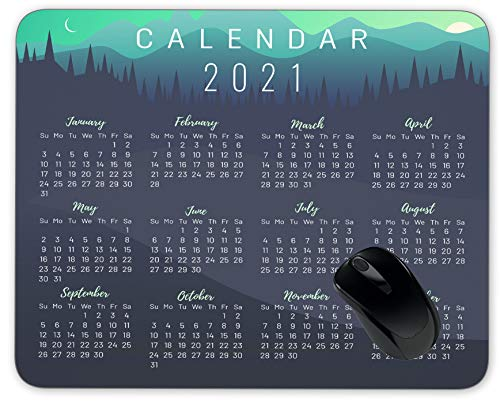 2021 Calendar Colorful Year 2021 Mouse Pad Anti-Slip Personalized Rectangle Gaming Rubber Backing Mousepad