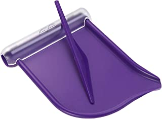 HEALIFTY Plastic Pill Counting Tray Pill Dispenser Durable Pill Counter with Spatula (Purple)