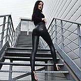 ZPDHY Leggings de mujer de piel, pantalones de mujer de piel dorada, Slim Fit Shapewear Glutei Compresión sin Costuras Jeggings Deportivos Pantalones de jogging para Mujer Negro XXL