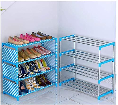 Zapatero Sala de Estar Zapatero Ahorro de Espacio Gabinete de Almacenamiento de Zapatos Tela no Tejida Puede acomodar 12-18 Pares de Zapatos Zapatero Desmontable (Color: Azul Tamaño: 23.6 '