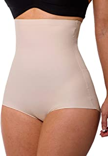 LaSculpte Womens Shapewear No Show Briefs Tummy Control Body Shaper High Waisted Panties Slimming Girdles Micro Fibre Laser Cut Invisible line Seamless Underwear, Black/Nude, 10-26