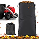 Meltset Riding Lawn Mower Leaf Bag High Capacity Lawn Tractors Leaves Collector Bag Heavy Duty Oxford Cloth Yard Waste Bag, Fit for Most Two Bag Material Collection Systems for Ride-in Lawn Mowers