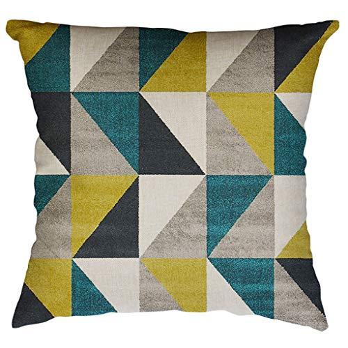 Youdong Housse de Coussin taie d'oreiller Motif géométrique irrégulier 60x60cm, Mode Décoratif Chambre Taie d'oreiller Sofa Throw Pillow Case Cushion Cover Décor de Maison
