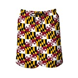 NiYoung Men Fashion Quick Dry Swim Trunks, Maryland State Flag,...