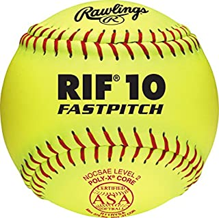Rawlings RIF ASA League Fastpitch Softballs, 12 Count, R11RYSA
