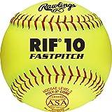 Rawlings RIF ASA League Fastpitch Softballs, R11RYSA, Single Ball