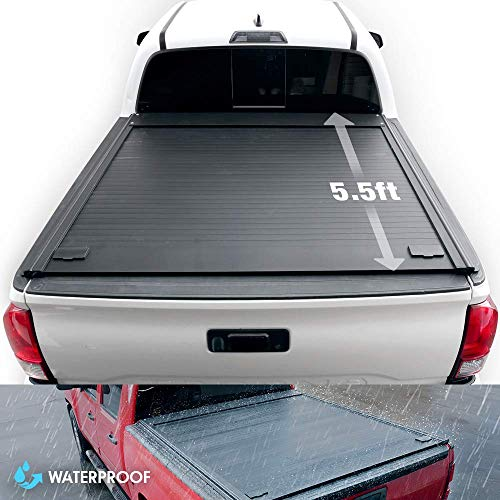 Syneticusa Aluminum Retractable Tonneau Cover for 2017-2021 Nissan Titan 5.5' 5'6' Short Truck Bed Low Profile Waterproof (not Compatible w/Inside Tool Box)